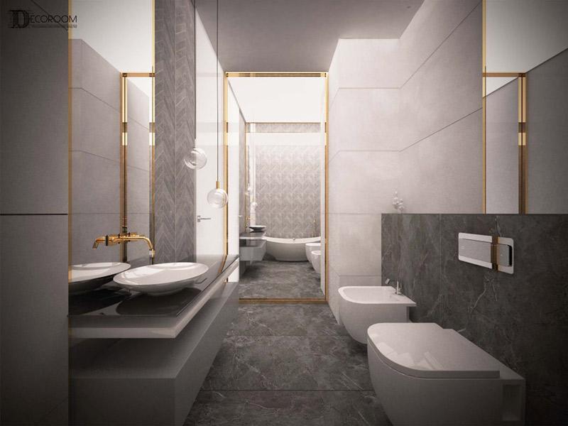 Wizualizacja łazienki w mieszkaniu na osiedlu Awangarda