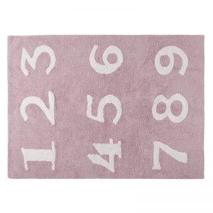 Różowy dywan Cyferki do prania 120x160cm Lorena Canals