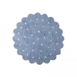 Niebieski dywan do prania Ciastko 1400 cm Lorena Canals