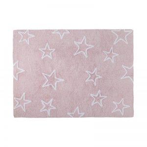 Różowy dywan w gwiazdy do prania 120x160cm Lorena Canals