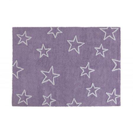 Fioletowy dywan w gwiazdy do prania 120x160cm Lorena Canals