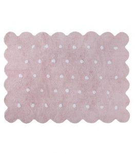 Różowy dywan do prania w pralce Herbatnik Lorena Canals