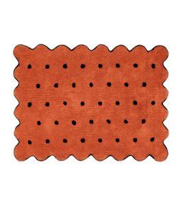 Pomarańczowy dywan do prania Herbatnik 120x160 Lorena Canals