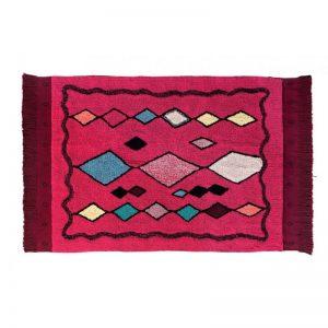 Różowy dywan Assa do prania 120x185 Lorena Canals