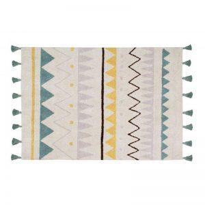 Prostokątny dywan we wzorki do prania Azteca Lorena Canals