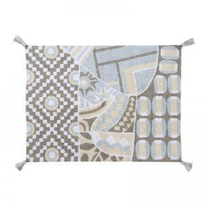Szaro-błękitny dywan do prania 120x160 Indian Lorena Canals