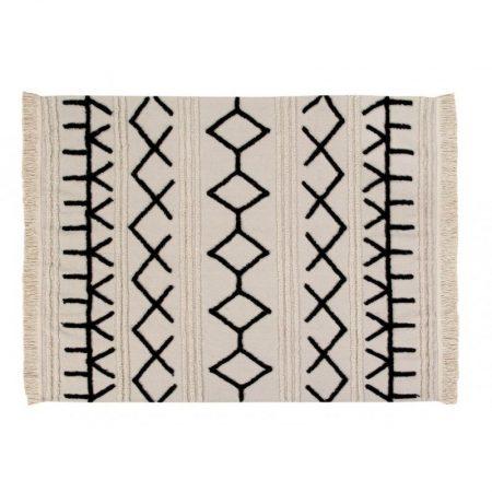 Beżowo-czarny dywan do prania Bereber Canvas Lorena Canals