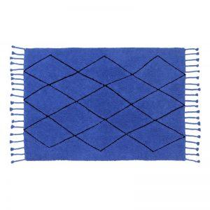 Prostokątny dywan do prania 140x200 niebieski Bereber Lorena Canals