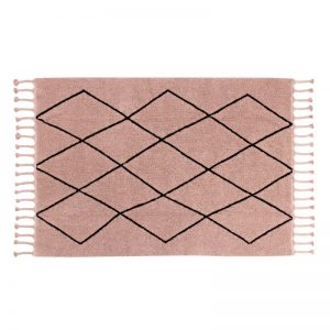 Różowy dywan do prania 140 x200 prostokątny Bereber Lorena Canals