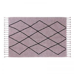 Prostokątny dywan do prania 140x200 Bereber brudny róż Lorena Canals