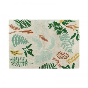 Prostokątny dywan roślinny motyw do prania 140x200 Lorena Canals