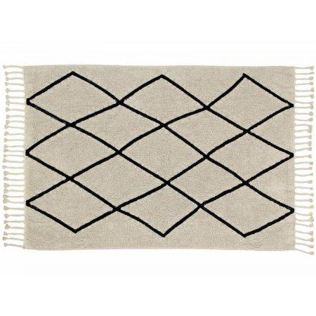 Beżowy dywan Bereber w romby do prania