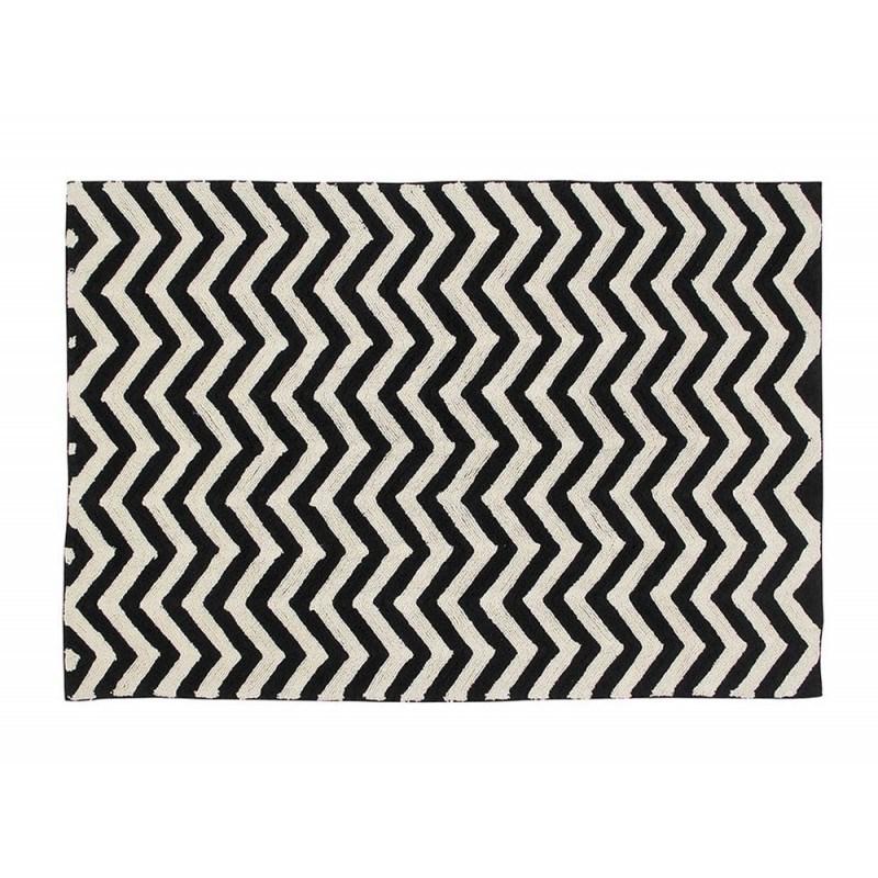 Czarno-biały dywan Zyg Zag do prania 140x200 Lorena Canals