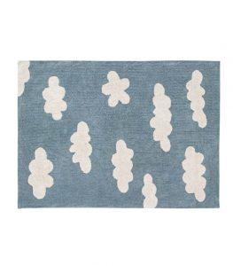 Błękitny, dywan w chmurki do prania 120x160 Clouds Lorena Canals