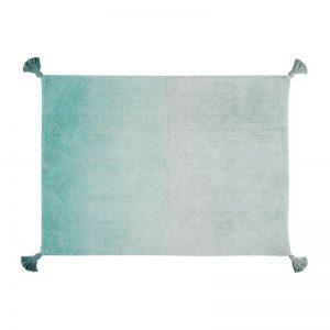 Szaroturkusowy dywan do prania 120x160 Ombre Lorena Canals
