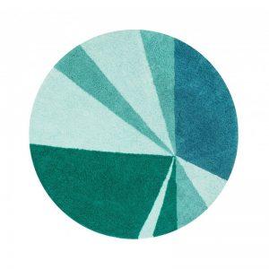 Szmaragdowy dywan zielony do prania 1600 Geometric Emerald Lorena Canals