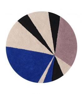 Szaroniebieski dywan do prania 1600 cm Geometric Lorena Canals
