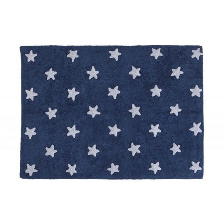 ranatowy dywan w gwiazdy do prania 120x160cm Lorena Canals