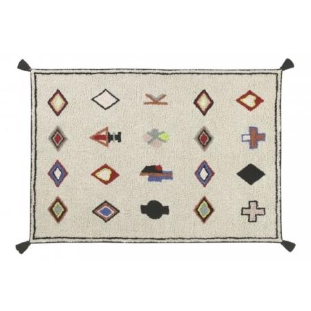 Beżowy, prostokątny dywan do prania 140x200 Naador Lorena Canals