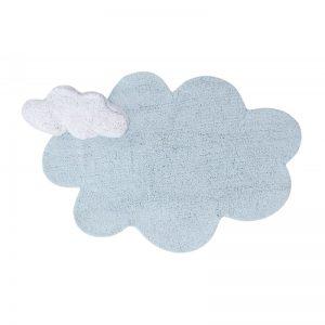 Dywanik dziecięcy z poduszką chmurka 110x 170 Puffy Dream Blue