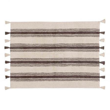 Beżowo-brązowy dywan w paski do prania 120x160 Stripes Lorena Canals