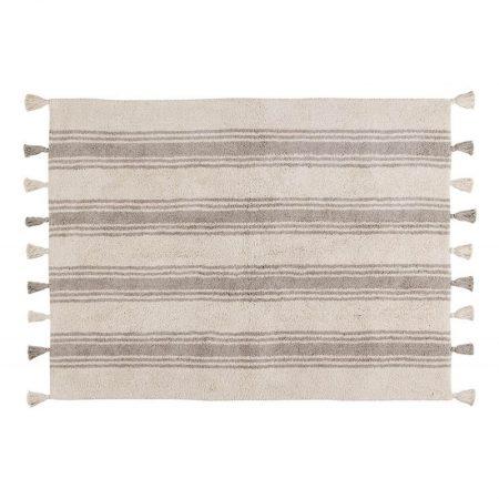 Beżowo-szary dywan w paski do prania 120x160 Lorena Canals