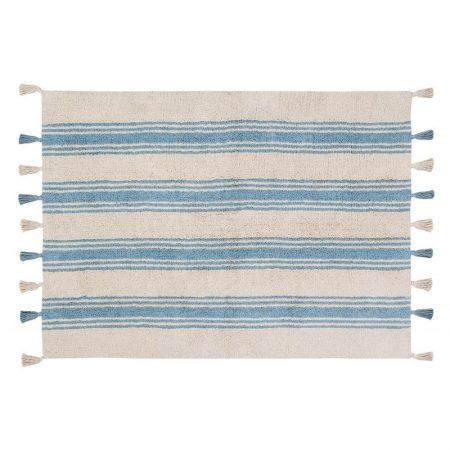 Beżowo-niebieski dywan w paski do prania 120x160 Lorena Canals