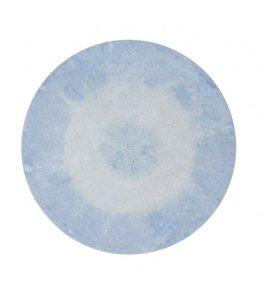 Okrągły, błękitny dywan do prania 1500 Lorena Canals
