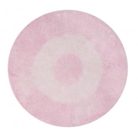 Okrągły, różowy dywan do prania Alfombra 1500 Lorena Canals