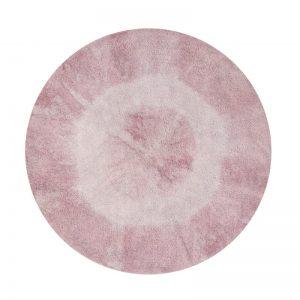 Różowy, okrągły dywan do prania Alfombrado prania 1500 Lorena Canals