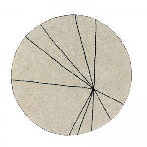 Okrągły, beżowy dywan do prania 1600 Trace Lorena Canals
