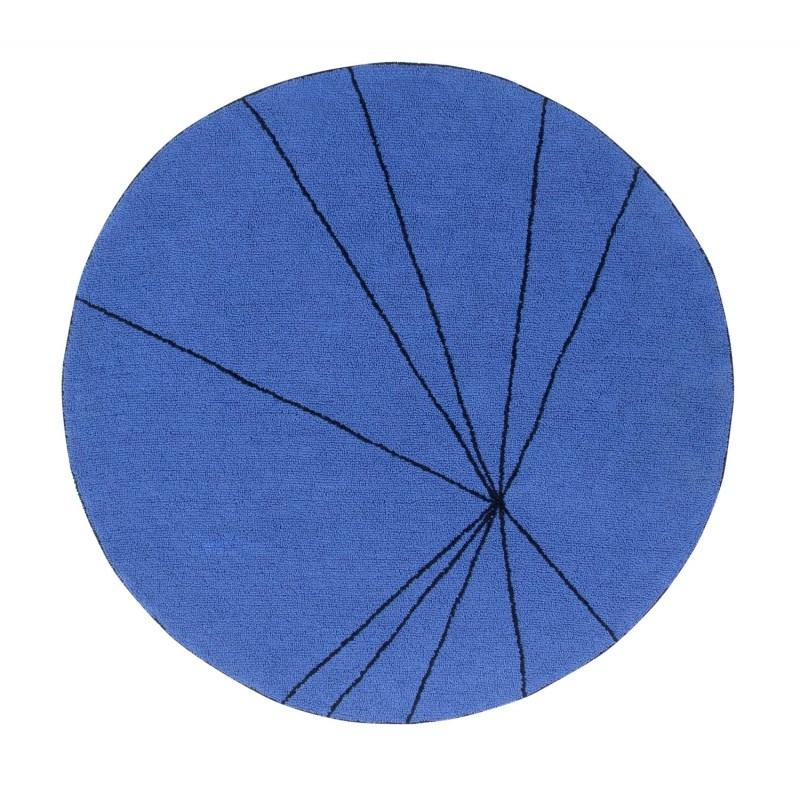 Okrągły, niebieski dywan do prania 1600 cm Trace Lorena Canals