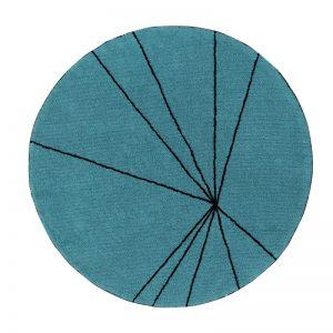 Okrągły, morski dywan do prania 1600 cm Trace Lorena Canals