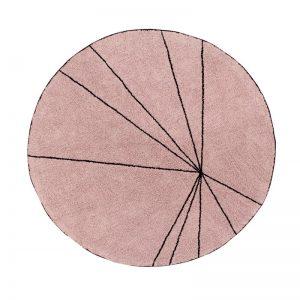 Różowy, okrągły dywan do prania 1600 cm Trace Lorena Canals