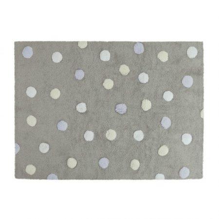 Dywanik dziecięcy kropki 120 x 160 Tricolor Polka Dots Grey-Blue
