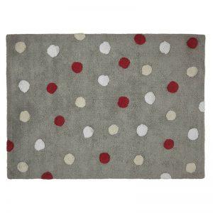 Dywanik dziecięcy kropki 120 x 160 Topos Tricolor Grey Red