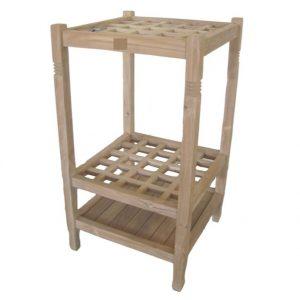 Drewniany stolik pomocniczy do ogrodu Tu029-73