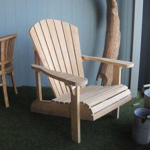 Fotel z drewna tekowego Adirondack Tu029-11