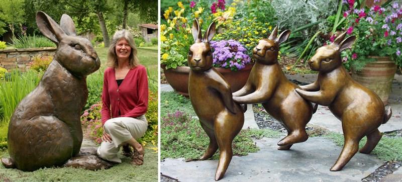 Georgia Gerber i jej rzeźby