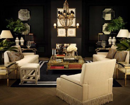 Kolonialny motyw w klasycznym salonie