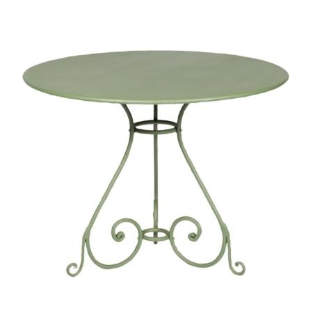 Metalowy stolik ogrodowy okrągły Sa281