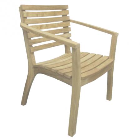 Nowoczesne krzesło z drewna tekowego Tu029-32