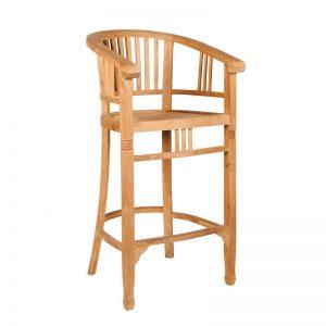 Ogrodowe krzesło barowe z drewna Tu029-88