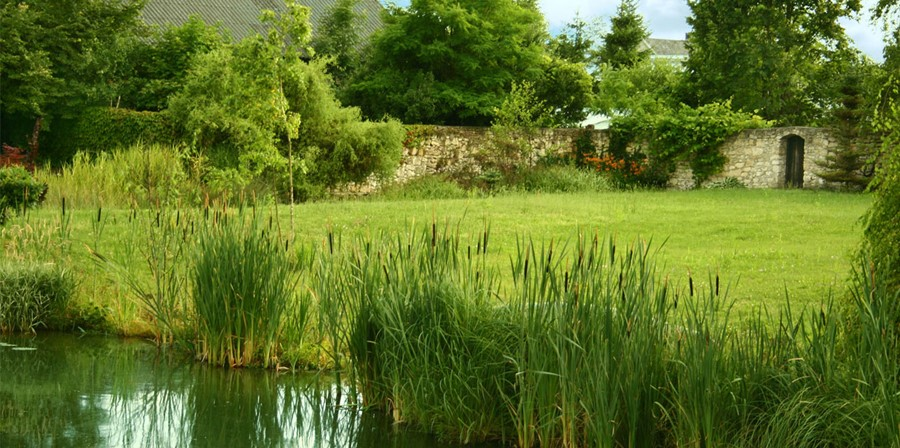 Ogrody angielskie z oczkiem wodnym