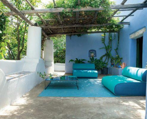 Śródziemnomorskie patio w nowoczesnym wydaniu