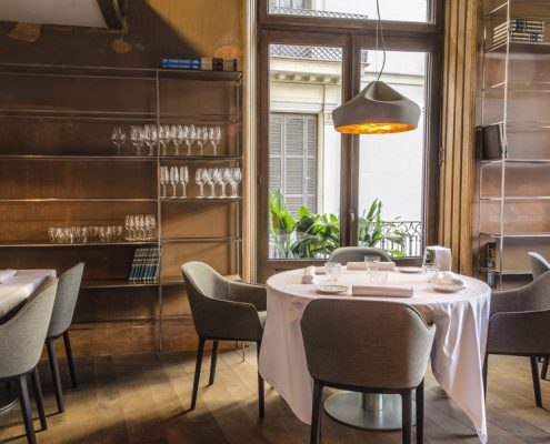 Aranżacja eklektycznej restauracji El Cercle