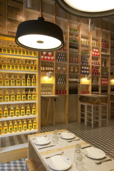 Aranżacja małej restauracji w stylu Eko - Dionisios