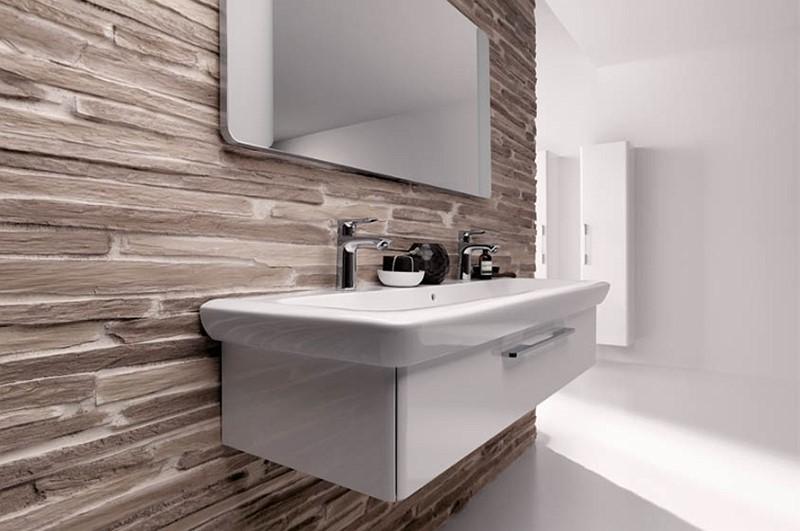 Aranżacje łazienek płytki strukturalne