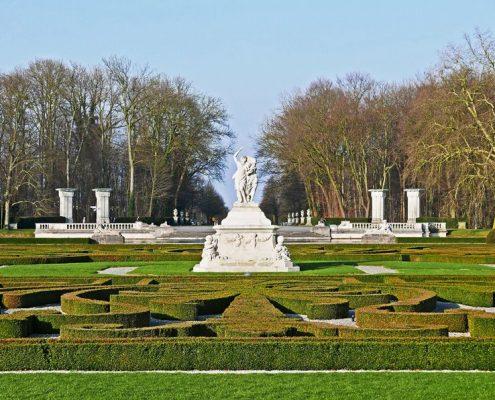 Barokowy ogród zimą
