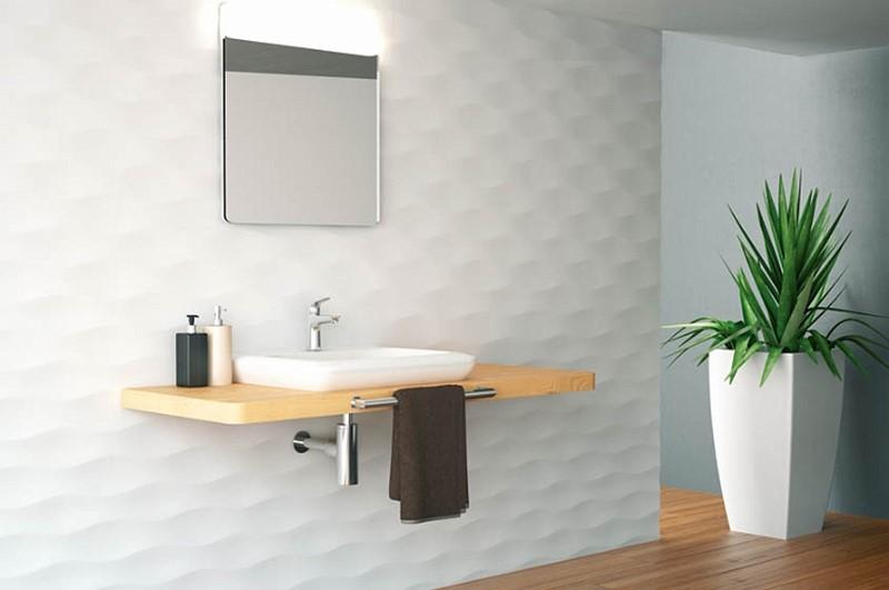 Inspiracje do łazienki płytki strukturalne